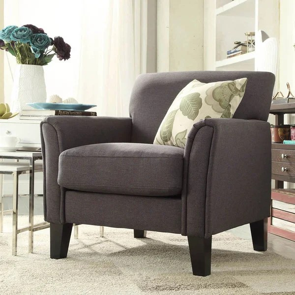 Accent Chair Gray Arms