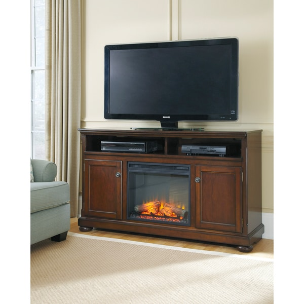 Signature Design By Ashley Porter Rustic Brown Large TV