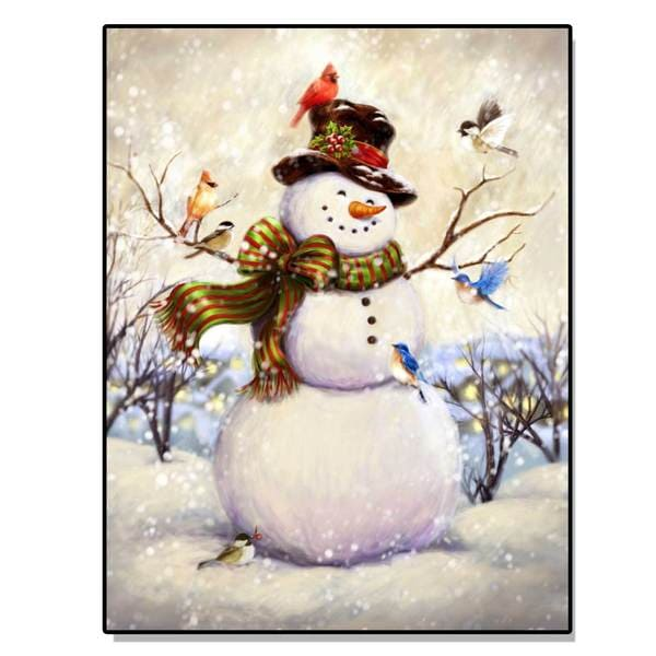 Top Hat Snowman Lighted Canvas Art Free Shipping On