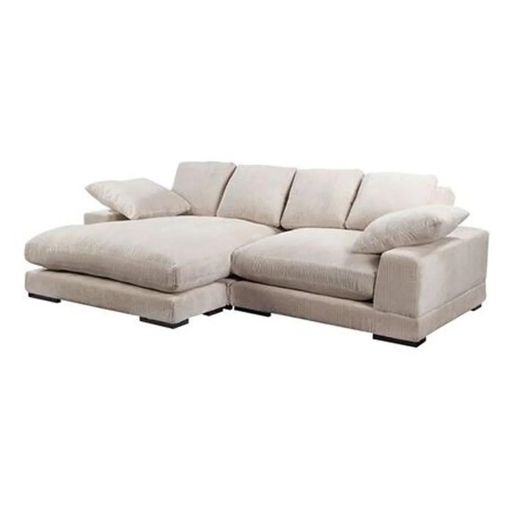aurelle home reversible contemporary sectional sofa