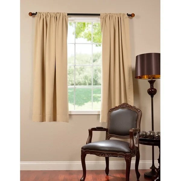 Exclusive Fabrics Thermal Blackout 63 Inch Curtain Panel Pair Free Shipping Today Overstock