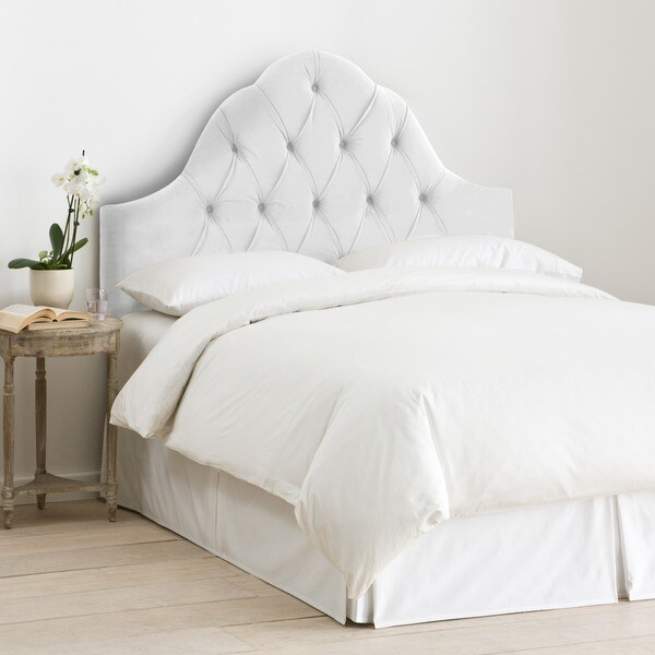 Skyline Furniture Arch Tufted Headboard In Velvet White Free Shipping Today