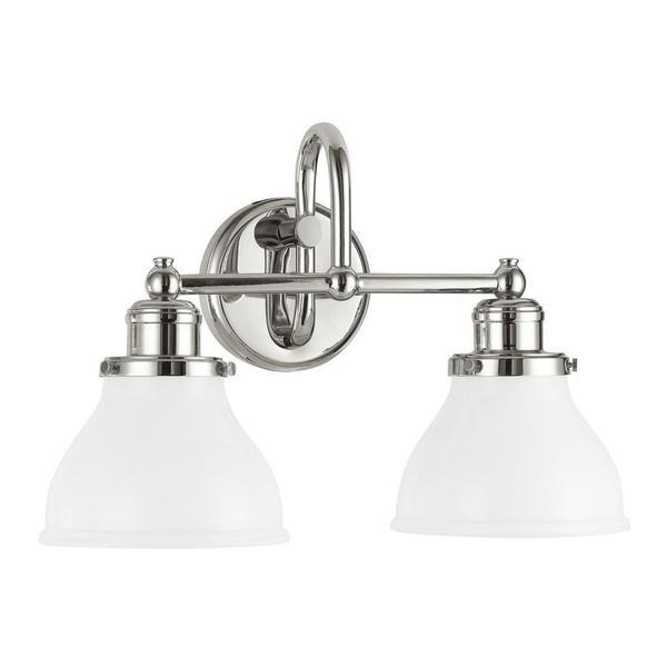 Shop Capital Lighting Baxter Collection 2-light Polished ... on Bathroom Wall Sconce Lighting id=61605
