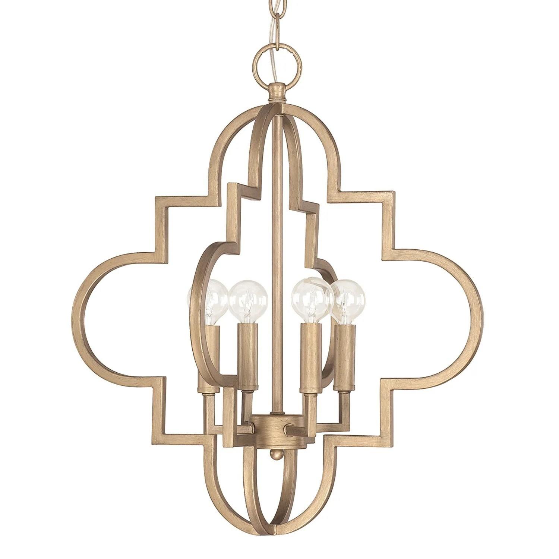ellis 4 light brushed gold pendant light brushed gold