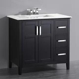 black bathroom vanities for less | overstock