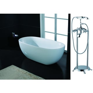AKDY 70 Inch OSF2738713 AK Europe Style White Acrylic Free Standing Bathtub With Faucet Free