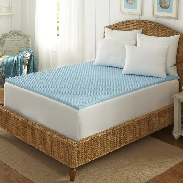 Arctic Sleep Cool Blue 1 5 Inch Memory Foam Twin Size Mattress Topper