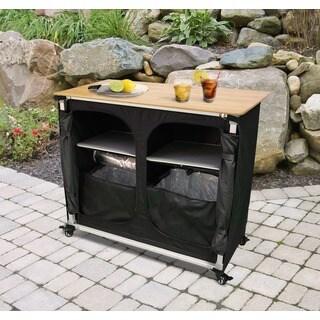 Jordan Manufacturing Bamboo-top Portable Bar - Free ... on Portable Backyard Bar id=97851