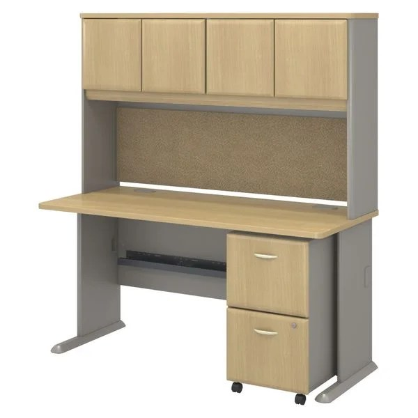 BBF Series A Collection 60 X 27 Desk With Hutch With 2