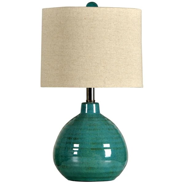 Turquoise Ceramic Accent Table Lamp - 16928498 - Overstock ...