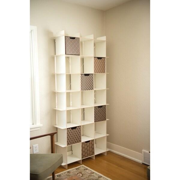 Tall Modern Storage Cube Bookcase