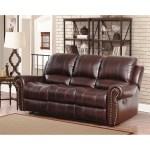 Abbyson Broadway Top Grain Leather Reclining Sofa Overstock 9970892