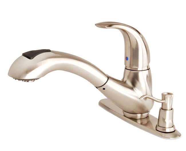 waterridge kitchen pullout faucet soap dispenser