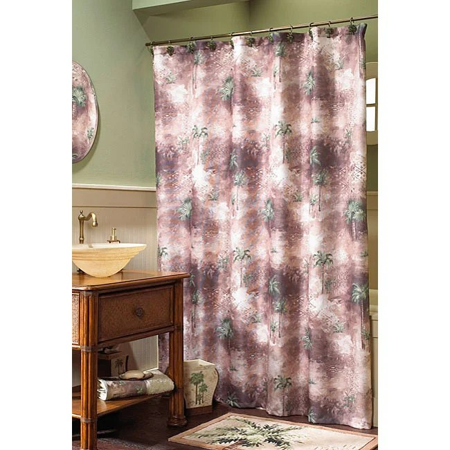 Croscill Palm Tree Sheer Curtains
