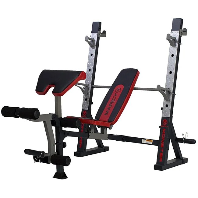 Marcy Charcoal Olympic Weight Bench 12363606 Overstock