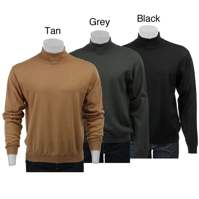 Mock Men Turtleneck Brown