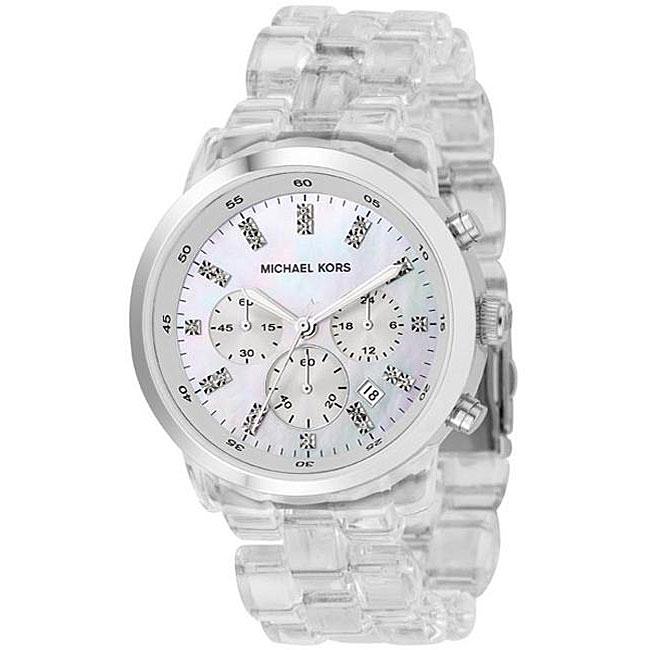 Michael Kors Womens MK5235 Acrylic Strap Watch Overstock Shopping Big Discounts On Michael