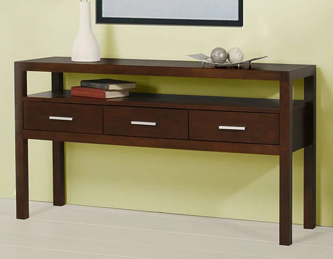 And 3 Table Drawers Piece Sofa Table Set Coffee Storage