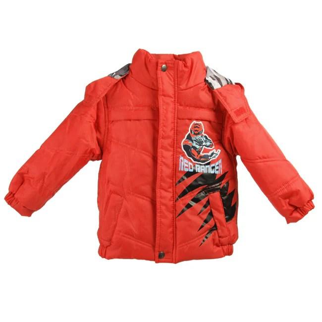 Disney Toddler Boys Power Rangers Bubble Jacket
