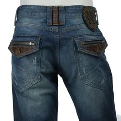 X Ray Men S Black Label Leather Trim Jeans 12313713