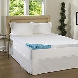 Comforpedic Loft From Beautyrest 4 Inch Sculpted Gel Memory Foam Mattress Topper With Polysilk Cover