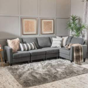 Buy L Shape Sectional Sofas Online at Overstock com   Our Best     Zahra 5 piece Fabric Sofa Sectional by Christopher Knight Home