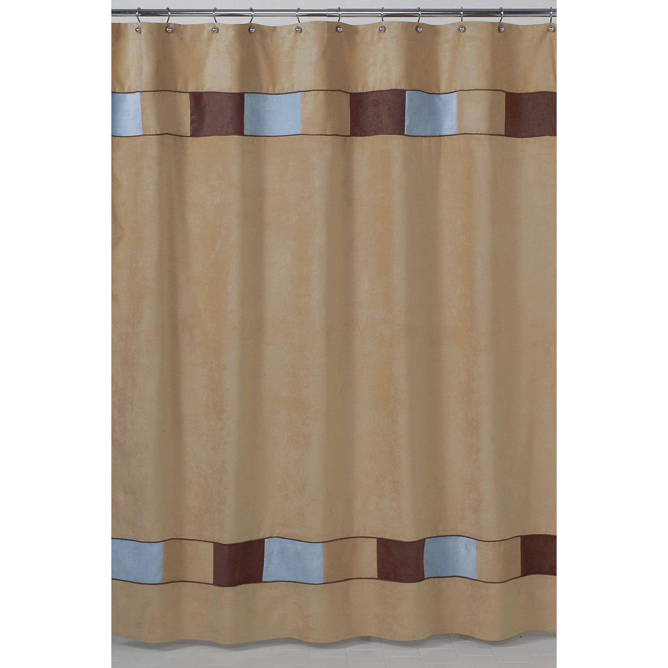 sweet jojo designs soho blue and brown shower curtain