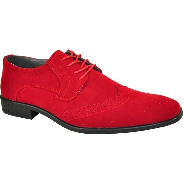 Shop BRAVO Men Dress Shoe KING-3 Wingtip Oxford Shoe Red ...