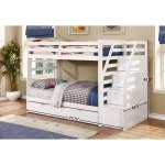 Shop Black Friday Deals On Fortis Twin Over Twin Bunk Bed With Trundle And Storage Steps On Sale Overstock 11501922