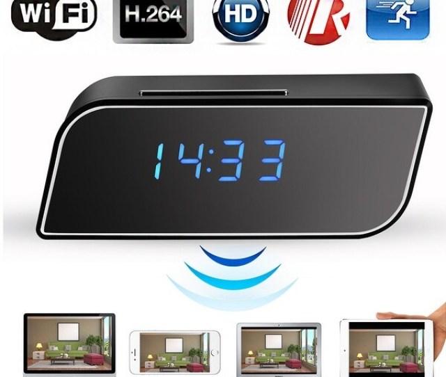Agptek Hidden Camera Alarm Clock Motion Security Hd 720p Wireless Wifi Ip Spy Hidden Camera Ir