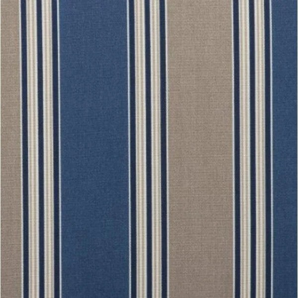 outdoor patio furniture mid back chair cushion blue tan stripe multi