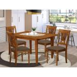 5 Piece Small Dining Table And 4 Kitchen Chairs Overstock 10296471 Wood Seat