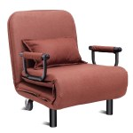 Costway Convertible Sofa Bed Folding Arm Chair Sleeper Leisure Overstock 15888781