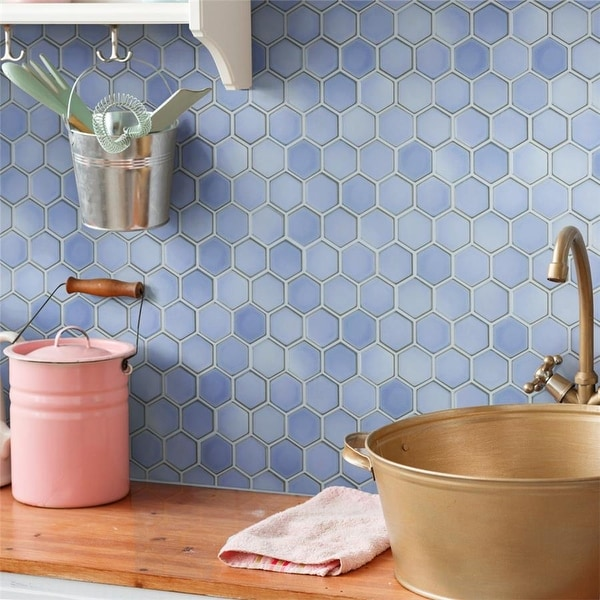blue hexagon tile find great home