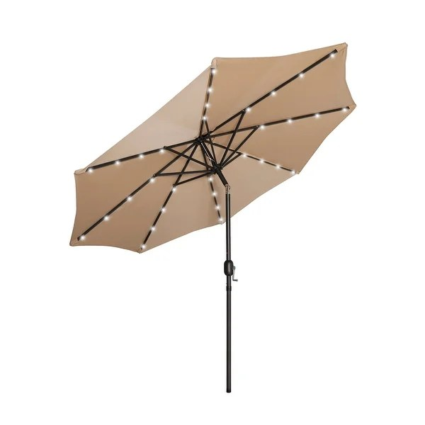 lucent 9 lighted patio umbrella with