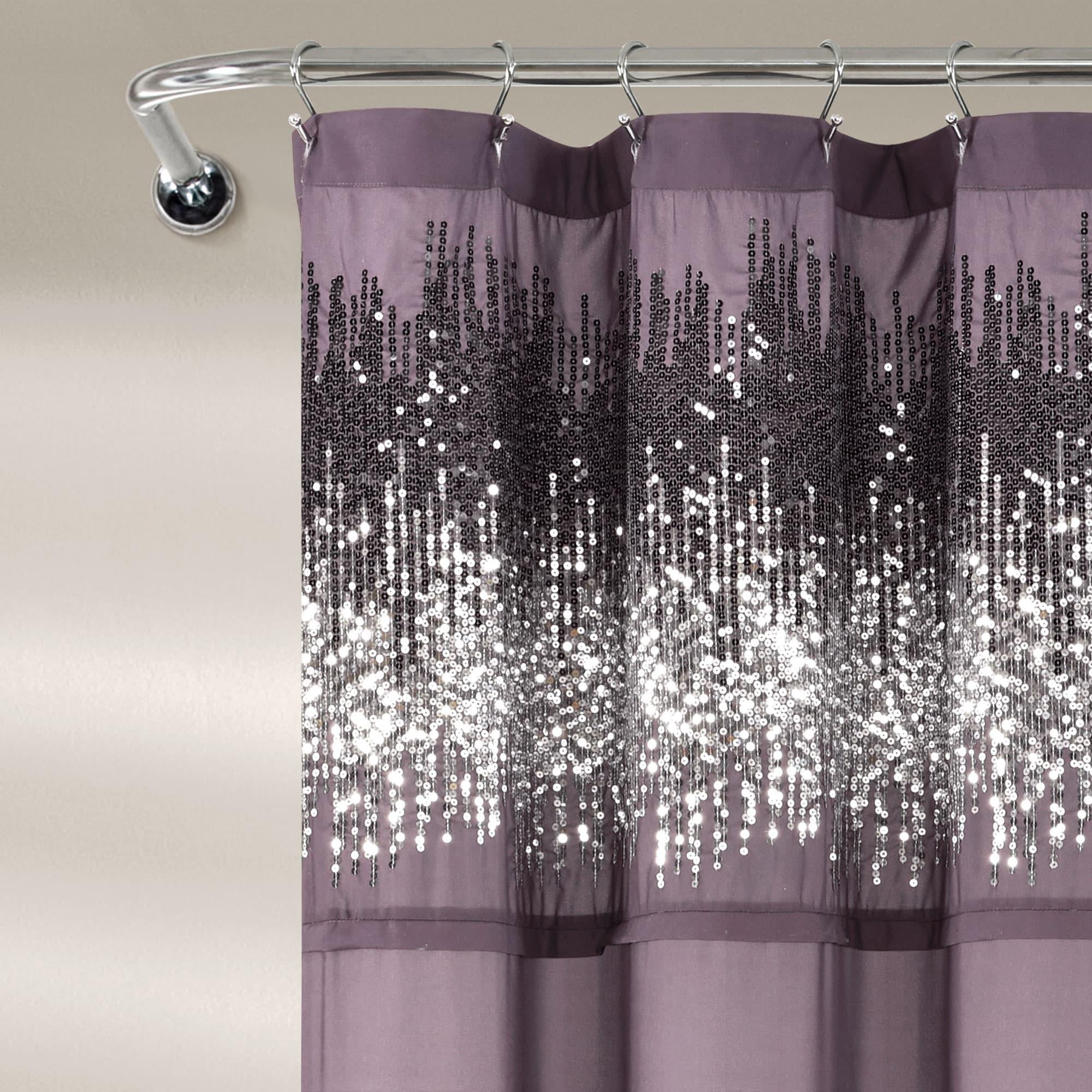 lush decor shimmer sequins shower curtain