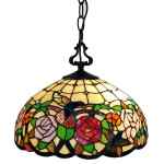 Shop Black Friday Deals On Tiffany Style Hanging Pendant Lamp 16 Wide Stained Glass Shade Game Room Ceiling Fixture Am019hl16b Amora Lighting Overstock 28480170