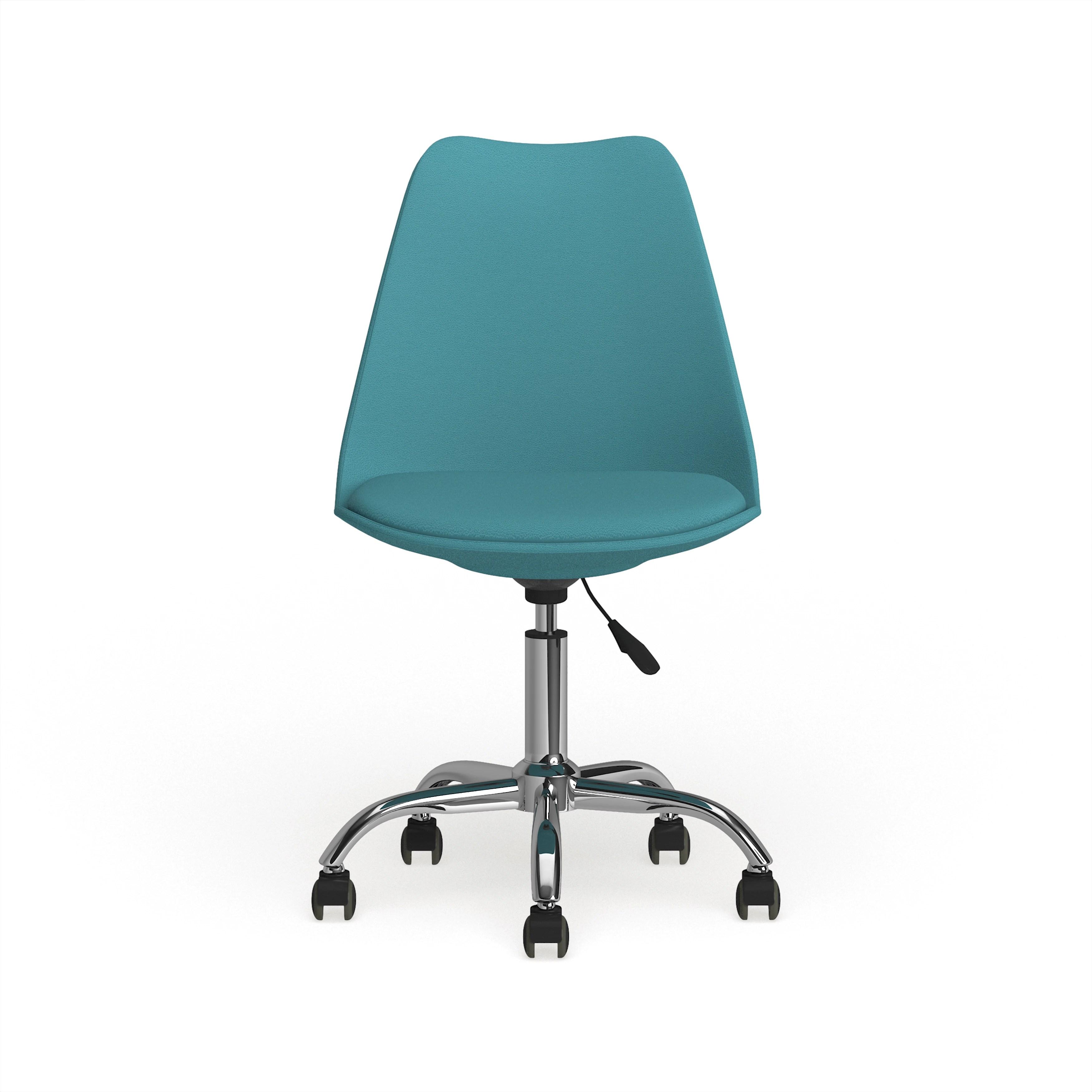 Carson Carrington Bollnas Mid Century Modern Teal Leather Office Task Chair Overstock 22727477