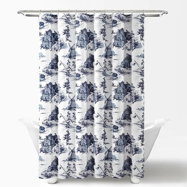 lush decor french country toile shower