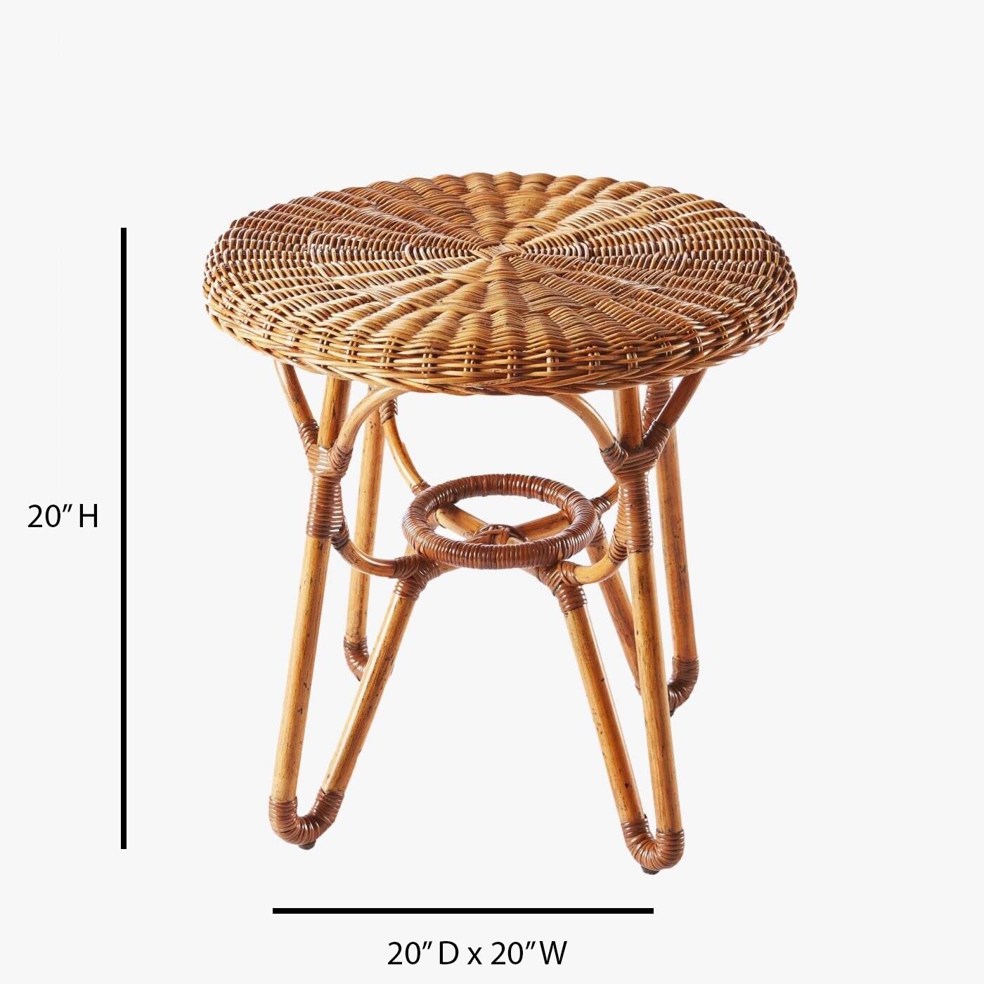 sadler bodega ratan outdoor patio end table