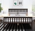 Wood Bed Frame Support Platform With Headboard And Footboard Espresso On Sale Overstock 30986426