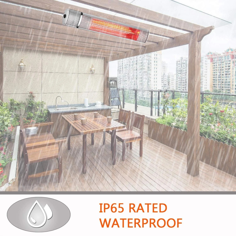 surjuny electric patio heater indoor outdoor wall mounted patio heater outdoor heater with remote control