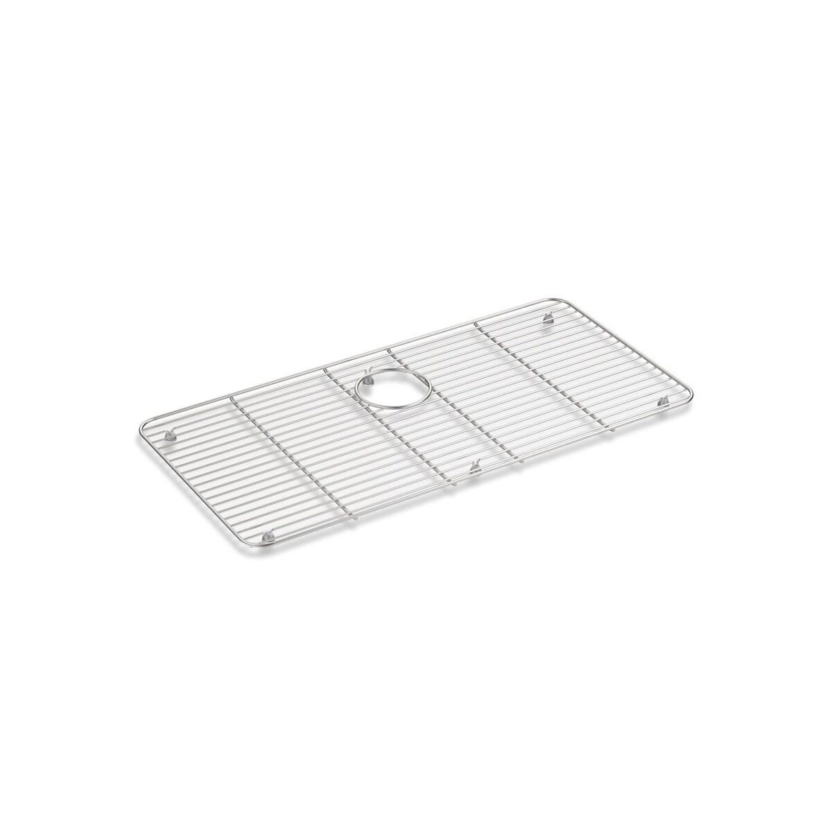 kohler bakersfield stainless steel sink rack 25 x 12 3 4 stainless steel k 6517 st