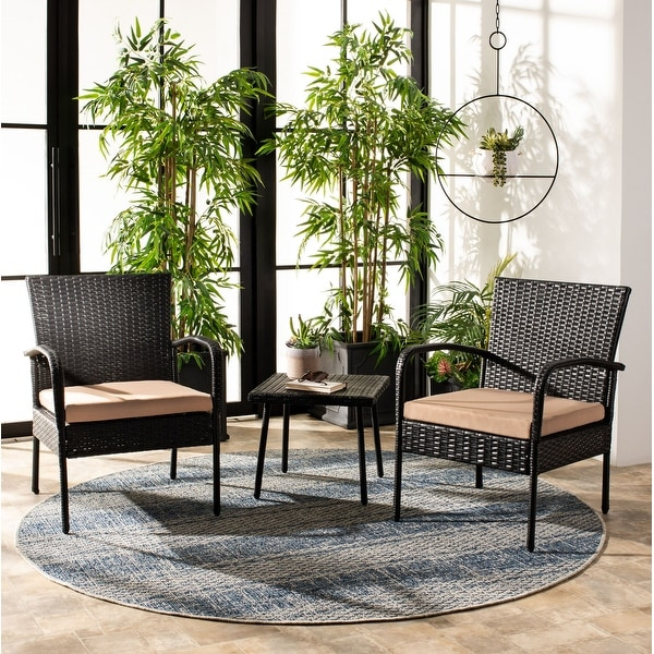 Shop Safavieh Outdoor Living Moore 3 Pc Lounge Set - On ... on Outdoor Living Shop id=59184