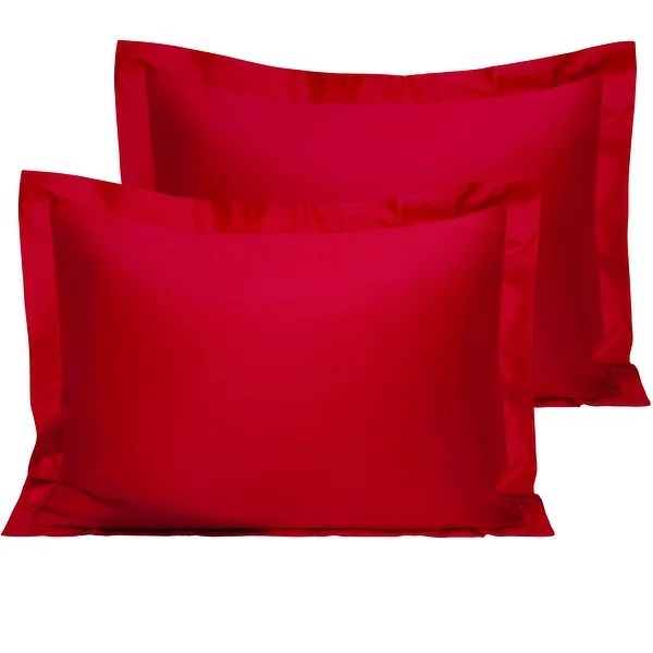 buy size standard red pillow shams