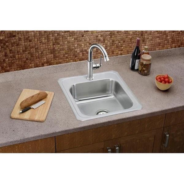 single basin stainless steel bar