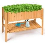 Raised Garden Bed Elevated Planter Box Shelf Standing Garden Herb 47 X22 5 X35 5 L X W X H On Sale Overstock 28283208