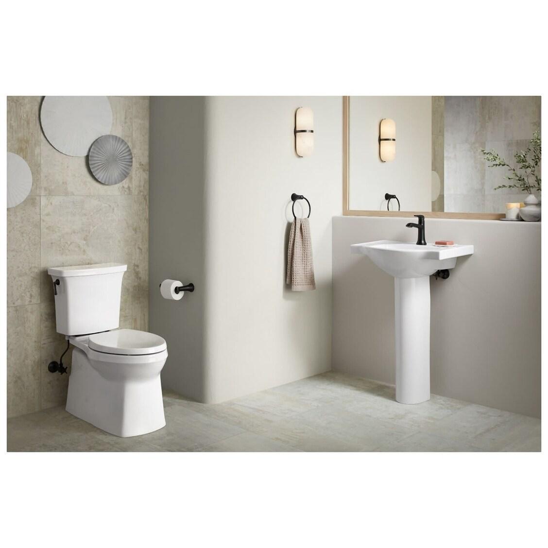 kohler k 5248 1 veer 24 pedestal bathroom sink only with one hole