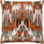 Shop Virgil Brown Green Embroidered Ikat Throw Pillow Cover 22 X 22 Overstock 23143788