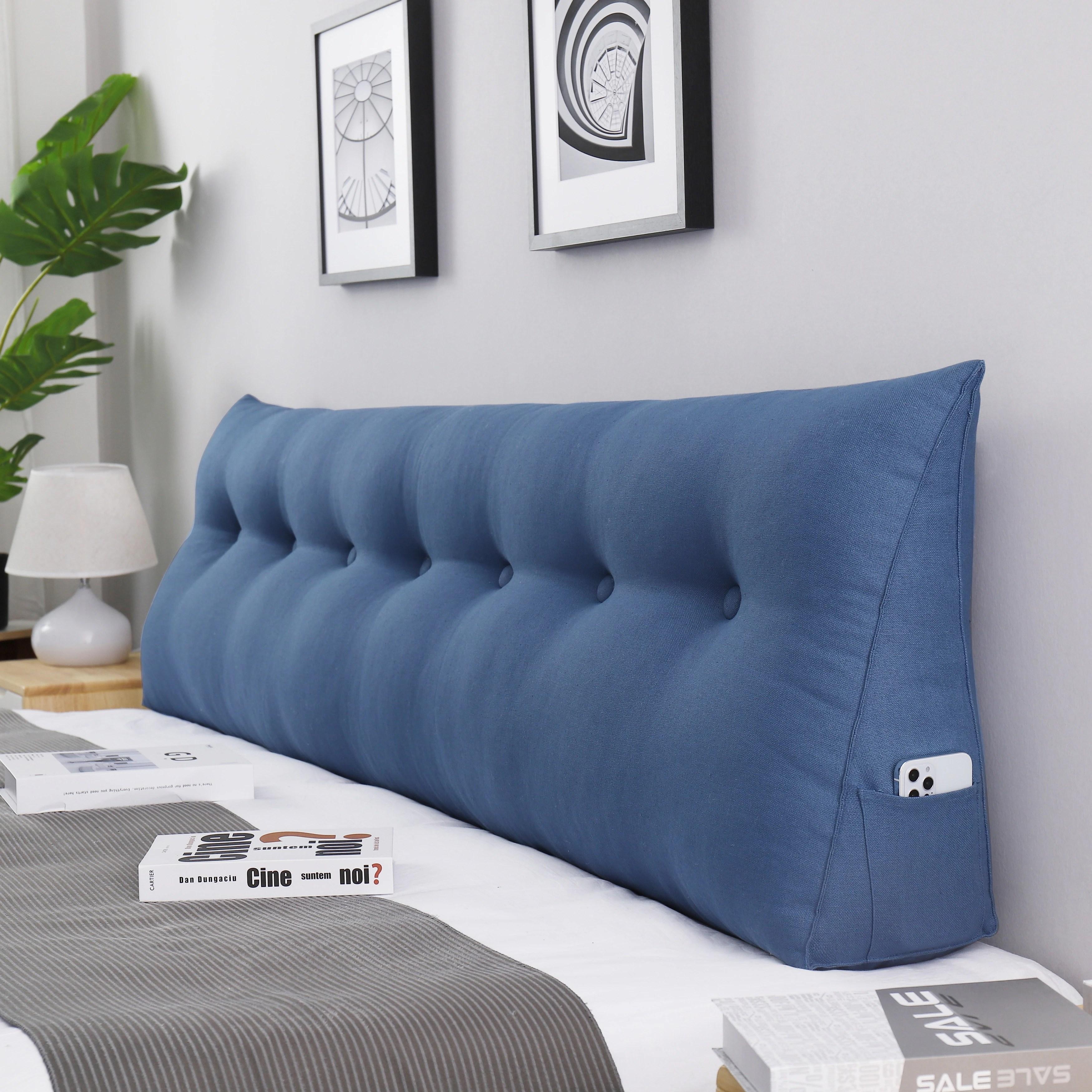 wowmax bed rest wedge pillow oversized extra long back lumbar pillow